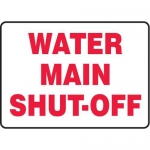 """Accuform MCHL533XF10, Safety Sign """"Water Main Shut-Off"""""""
