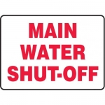 """Accuform MCHL534XF10, Safety Sign """"Main Water Shut-Off"""""""