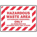"Accuform MCHL551XP10, Safety Sign ""Hazardous Waste Area…"""