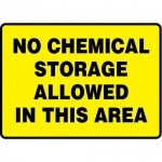 "Accuform MCHL554VP10, Safety Sign ""No Chemical Storage…"" Plastic"