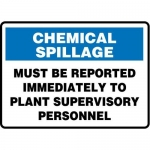 """Accuform MCHL556XT10, OSHA Safety Sign """"Must Be Reported…"""""""