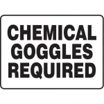 """Accuform MCHL562XF10, Safety Sign """"Chemical Goggles Required"""""""
