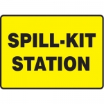"Accuform MCHL563XT10, Safety Sign ""Spill-Kit Station"" Dura-Plastic"