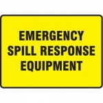 """Accuform MCHL564XT10, Safety Sign """"Emergency Spill Response Equipment"""""""