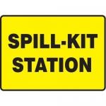 "Accuform MCHL567XV10, Safety Sign ""Spill-Kit Station"" Dura-Vinyl"