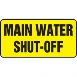 """Accuform MCHL575XF10, Safety Sign """"Main Water Shut-Off"""""""