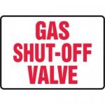 """Accuform MCHL580VA10, Safety Sign """"Gas Shut Off Valve"""" Aluminum"""