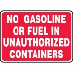"Accuform MCHL590XT10, Sign ""No Gasoline or Fuel…"" Dura-Plastic"
