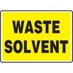 """Accuform MCHL597XP10, Safety Sign """"Waste Solvent"""" Accu-Shield"""