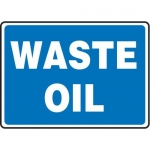 """Accuform MCHL598XP10, 10″ x 14″ Safety Sign """"Waste Oil"""" Accu-Shield"""