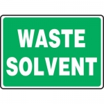 """Accuform MCHL599XP10, Safety Sign """"Waste Solvent"""" Accu-Shield"""