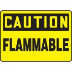 """Accuform MCHL603VS10, OSHA Caution Safety Sign """"Flammable"""" Vinyl"""