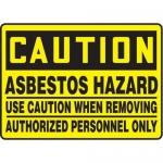 "Accuform MCHL612XF10, OSHA Caution Safety Sign ""Asbestos Hazard…"""