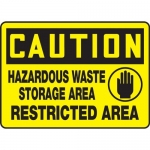 "Accuform MCHL616XF10, OSHA Caution Safety Sign ""Hazardous Waste…"""
