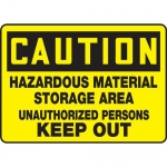 "Accuform MCHL619XF10, OSHA Safety Sign ""Hazardous Material Storage…"""