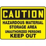 "Accuform MCHL619XT10, OSHA Safety Sign ""Hazardous Material Storage…"""