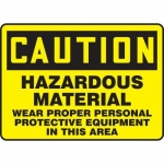 "Accuform MCHL621XF10, OSHA Safety Sign ""Hazardous Material…"""