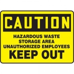 "Accuform MCHL622XF10, Safety Sign ""Hazardous Waste Storage Area…"""