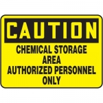 "Accuform MCHL626VP10, Caution Safety Sign ""Chemical Storage Area…"""