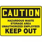 "Accuform MCHL628XF10, Safety Sign ""Hazardous Waste Storage Area…"""