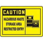 "Accuform MCHL632XF10, Safety Sign ""Hazardous Waste Storage Area…"""