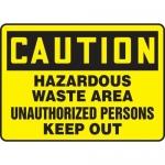 "Accuform MCHL640XP10, Caution Safety Sign ""Hazardous Waste Area…"""