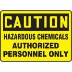 "Accuform MCHL646XT10, Caution Safety Sign ""Hazardous Chemicals…"""