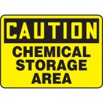 "Accuform MCHL649VP10, Chemical Safety Sign ""Chemical Storage Area"""
