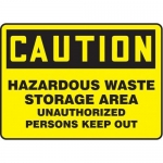"Accuform MCHL650XT10, Safety Sign ""Hazardous Waste Storage Area…"""