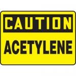 "Accuform MCHL660VS10, OSHA Caution Safety Sign ""Acetylene"" Vinyl"