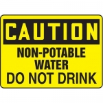 """Accuform MCHL674XF10, OSHA Caution Safety Sign """"Non-Potable Water…"""""""