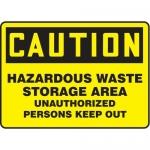 """Accuform MCHL678XP10, Safety Sign """"Hazardous Waste Storage Area…"""""""