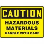 "Accuform MCHL686XT10, Caution Safety Sign ""Hazardous Materials…"""