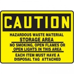 "Accuform MCHL697XT10, Safety Sign ""Hazardous Waste Material…"""