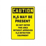 "Accuform MCHL706XT10, OSHA Sign ""H2S May Be Present Do Not Enter…"""