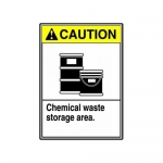 "Accuform MCHL713VP10, ANSI Safety Sign ""Chemical Waste Storage Area"""