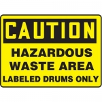 "Accuform MCHL716XP10, Caution Safety Sign ""Hazardous Waste Area…"""