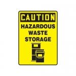 """Accuform MCHL717XP10, Caution Safety Sign """"Hazardous Waste Storage"""""""