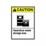 """Accuform MCHL718XP10, Safety Sign """"Hazardous Waste Storage Area"""""""