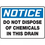 "Accuform MCHL803XT10, OSHA Notice Safety Sign ""Do Not Dispose…"""