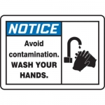 "Accuform MCHL810XT10, OSHA Safety Sign ""Avoid Contamination…"""