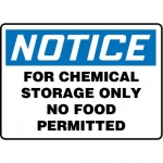 "Accuform MCHL813VP10, OSHA Safety Sign ""For Chemical Storage…"""
