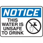 """Accuform MCHL817XF10, OSHA Safety Sign """"This Water Is Unsafe To Drink"""""""