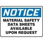 "Accuform MCHL823XT10, OSHA Notice Safety Sign ""Material Safety…"""