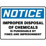 "Accuform MCHL831XF10, OSHA Notice Safety Sign ""Improper Disposal…"""