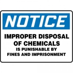 "Accuform MCHL831XT10, OSHA Notice Safety Sign ""Improper Disposal…"""