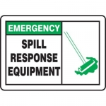 """Accuform MCHL906XT10, Emergency Safety Sign """"Spill Response Equipment"""""""