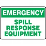 """Accuform MCHL907XT10, Safety Sign """"Spill Response Equipment"""""""