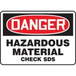 "Accuform MCHM100XT10, OSHA Danger Safety Sign ""Hazardous Material…"""