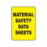 """Accuform MCHM515XV10, Safety Sign """"Material Safety Data Sheets"""""""